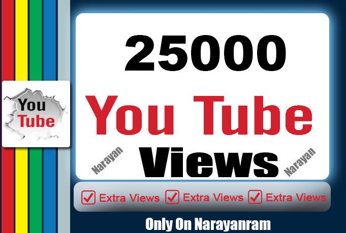 I will add 25,000 High Quality Views