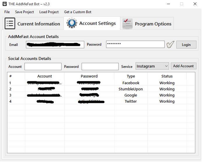 AddMeFast Bot 100 Working - Say NO to iMacros Script for $29 - SEOClerks