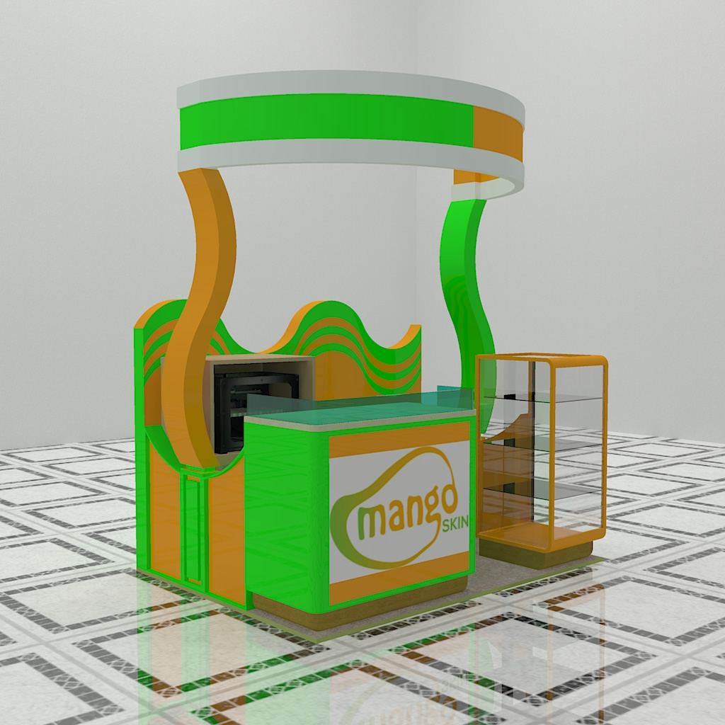 Design 3D Booth or Kiosk for $35
