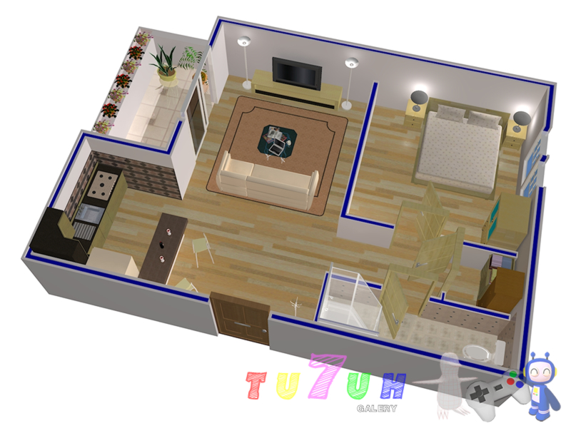 Create 3d floor plan for 35 seoclerks for Turn floor plan into 3d model