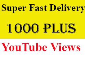 Super Fast 1010+ High Retention Youtube Views