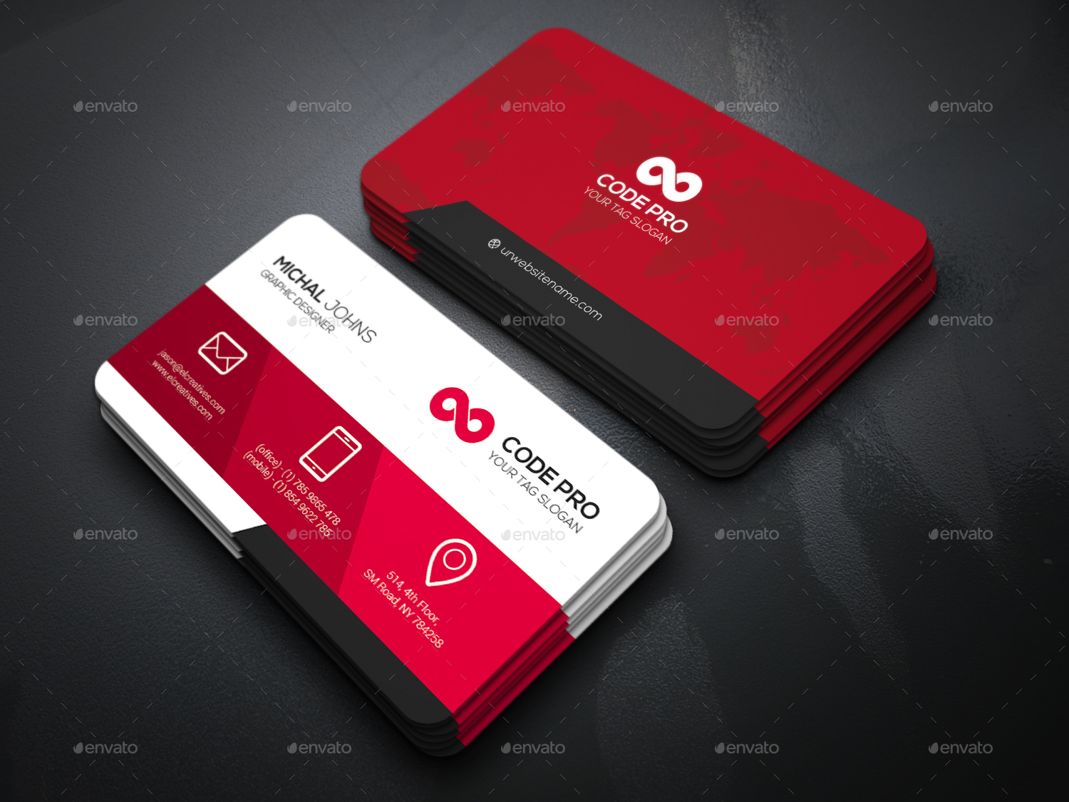 create 2 different Modern Business card for $10 - SEOClerks