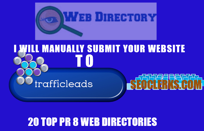 I will submit your Website Manually to 20 High quality,  High PR Web Directories