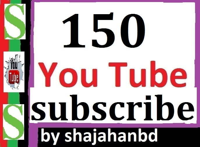 Guaranteed 150+ Real You tube Channel subscribers Non Drop Instant Start