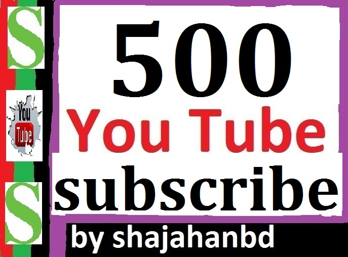 500 Real Active You tube Channel Sub-scribers Non Drop Instant Delivery