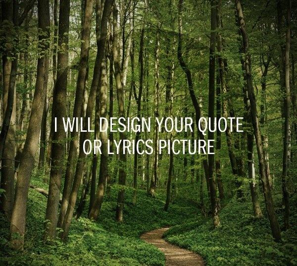 Quote or lyrics image design
