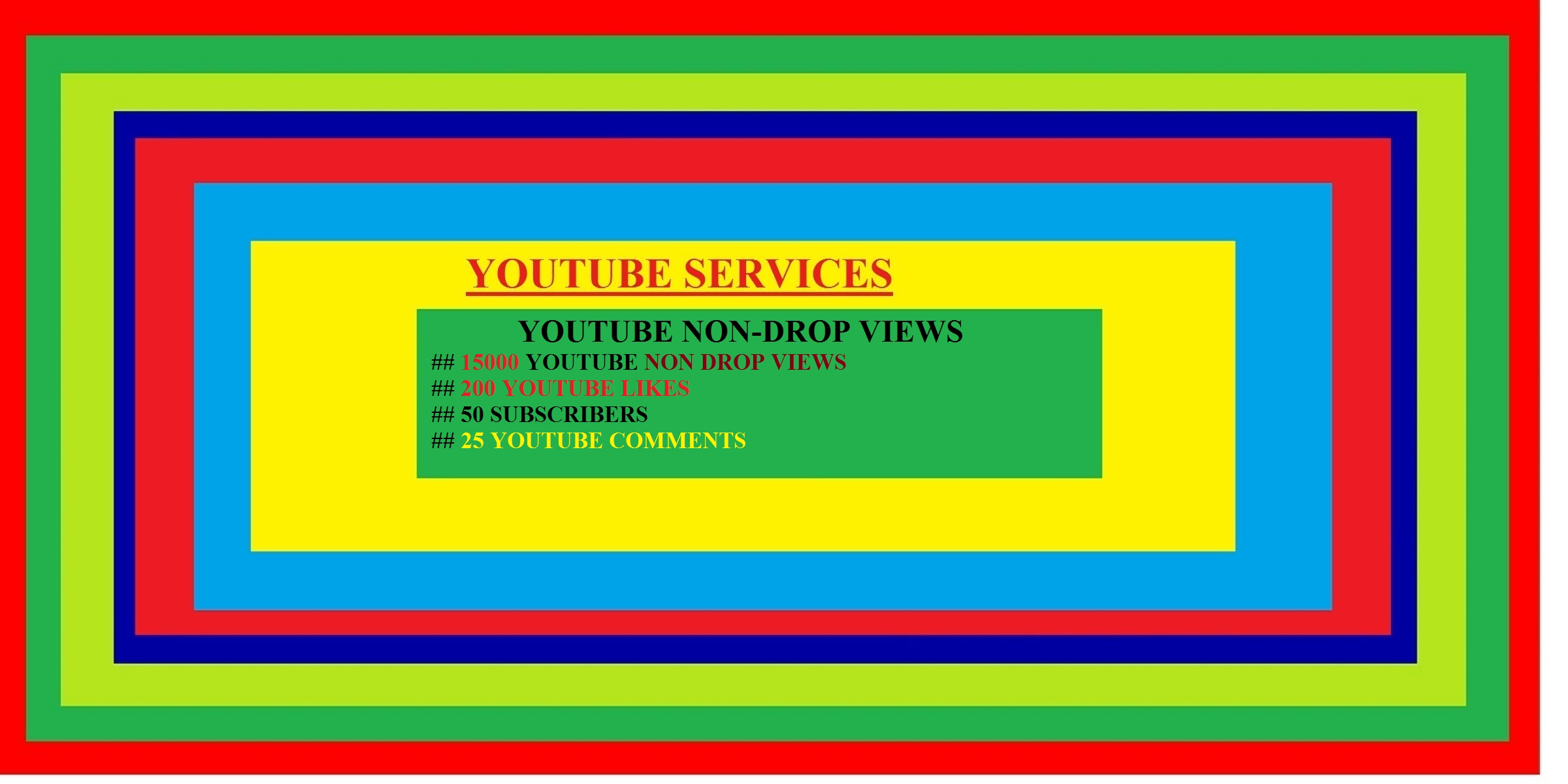 GET 20000 YOUTUBE VIEWS + 1000 YOUTUBE LIKES + 50 SUBSCRIBERS + 25 youtube comments