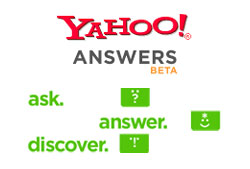 Promote 3 Yahoo Answers with Your Website