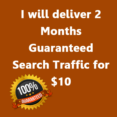I will deliver 2 Months Guaranteed Search Traffic for 10