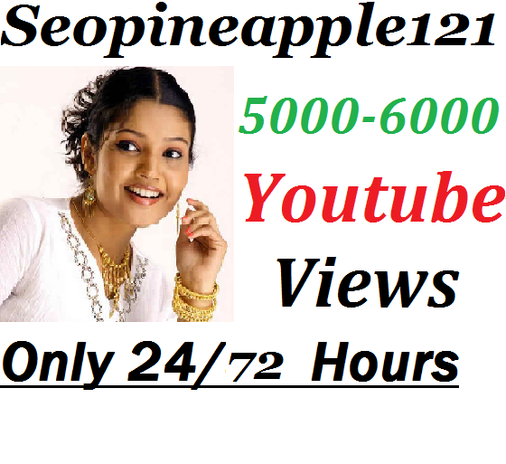 5000-6000 High Quality Non Drop Youtube Views Within 24-72 Hours
