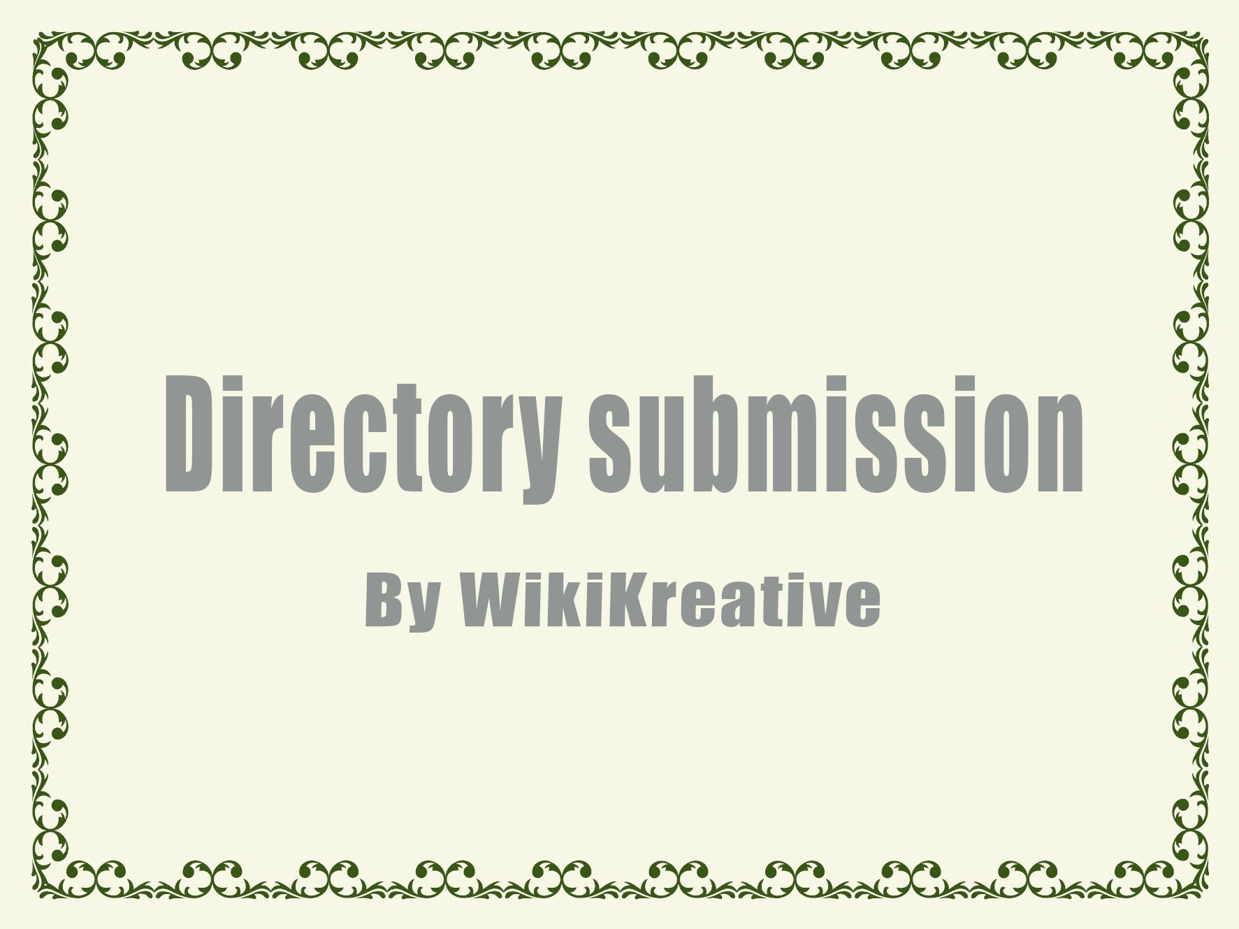 Traditional Directory Submission