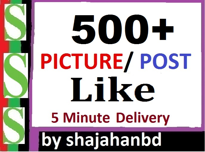 Instant 500+ Likes In Pic Or 10,000 Views in Video