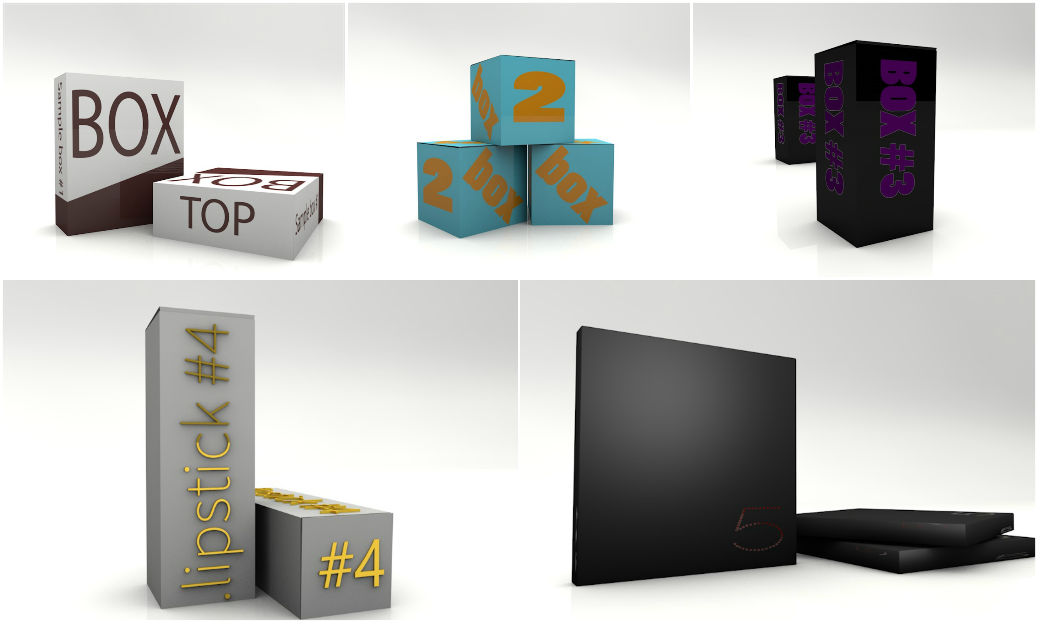 I will create custom 3D box of your product