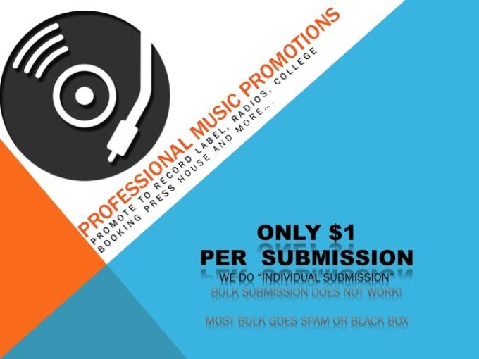 do music promotions radio,press, college