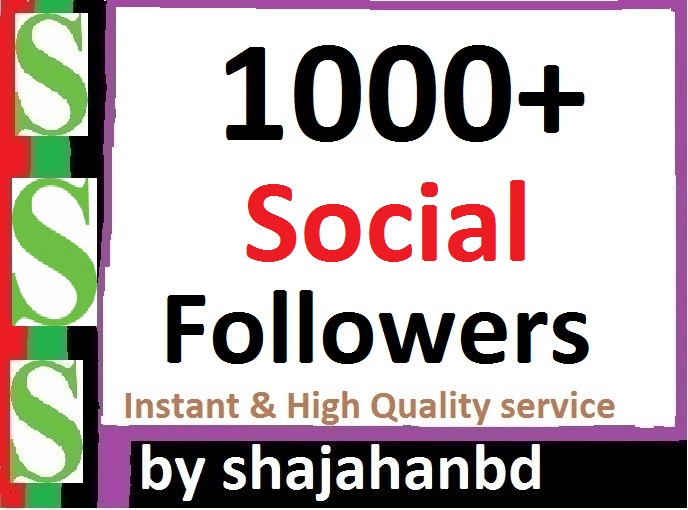 Instant 2000+ Social Profile Followers High Quality