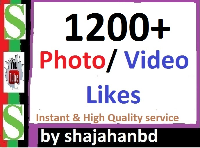 Instant 1200+ Likes In Pic Or 50,000 Views in Video