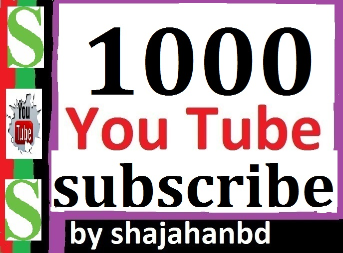 Manually Add 1000 Real Active You tube Channel Subs-cribers Safe and Non Drop Refill Guarantee