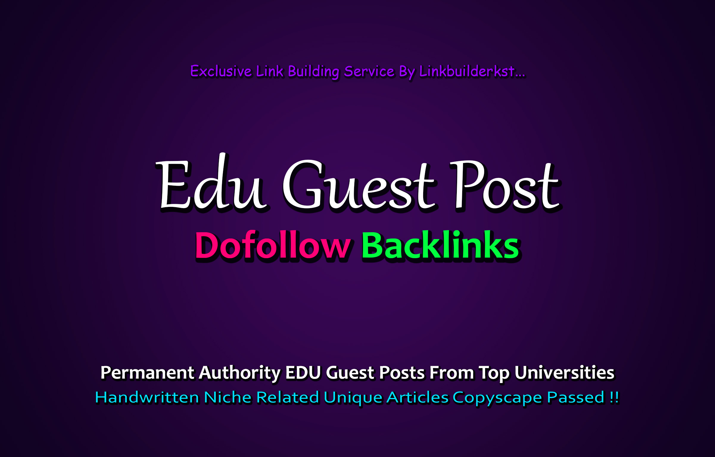 Get 2X EDU Guest Posts From Top Level Universities