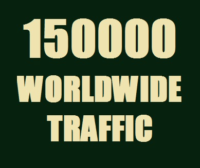 Get Real 150000 Web Traffic Worldwide