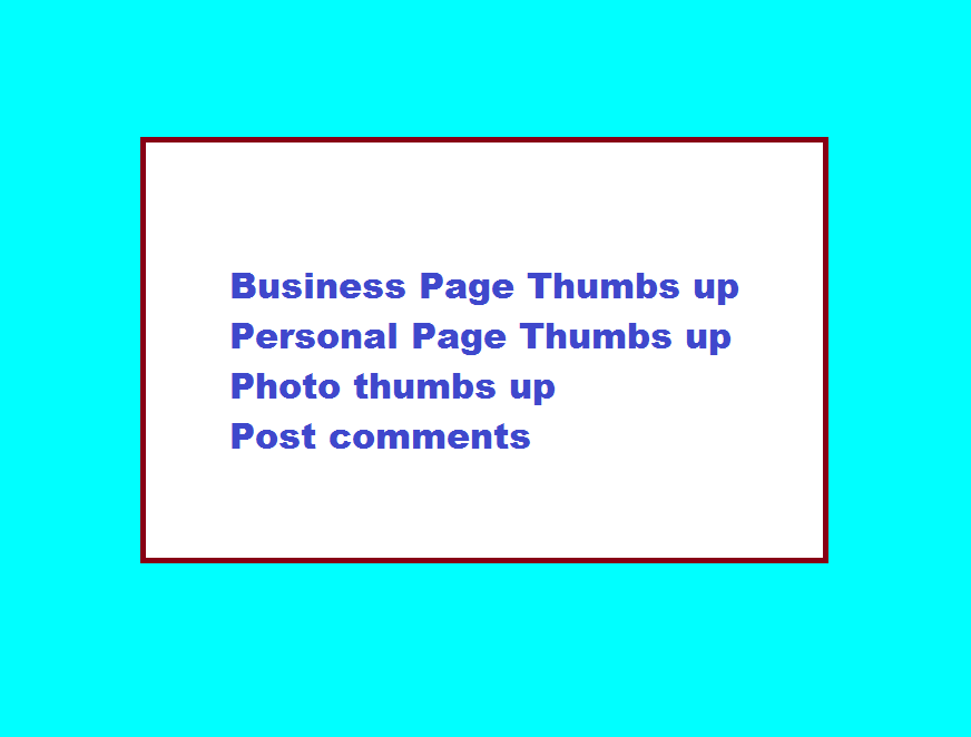 I will give you 5 Page Thumbs up to your business or personal page