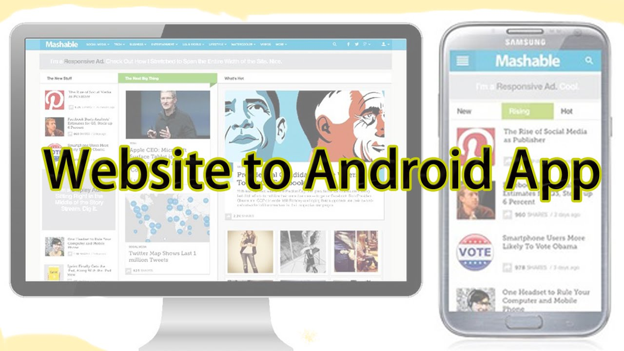 create Android App for your blog or website