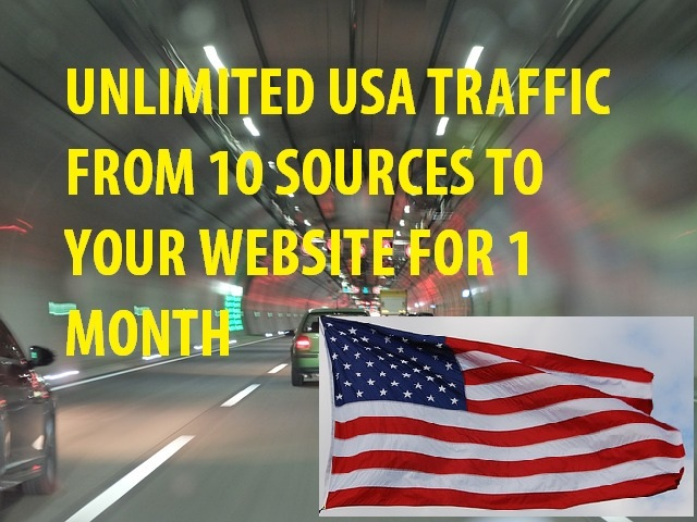 UNLIMITED USA TRAFFIC From 10 SOURCES To Your Website For ONE MONTH