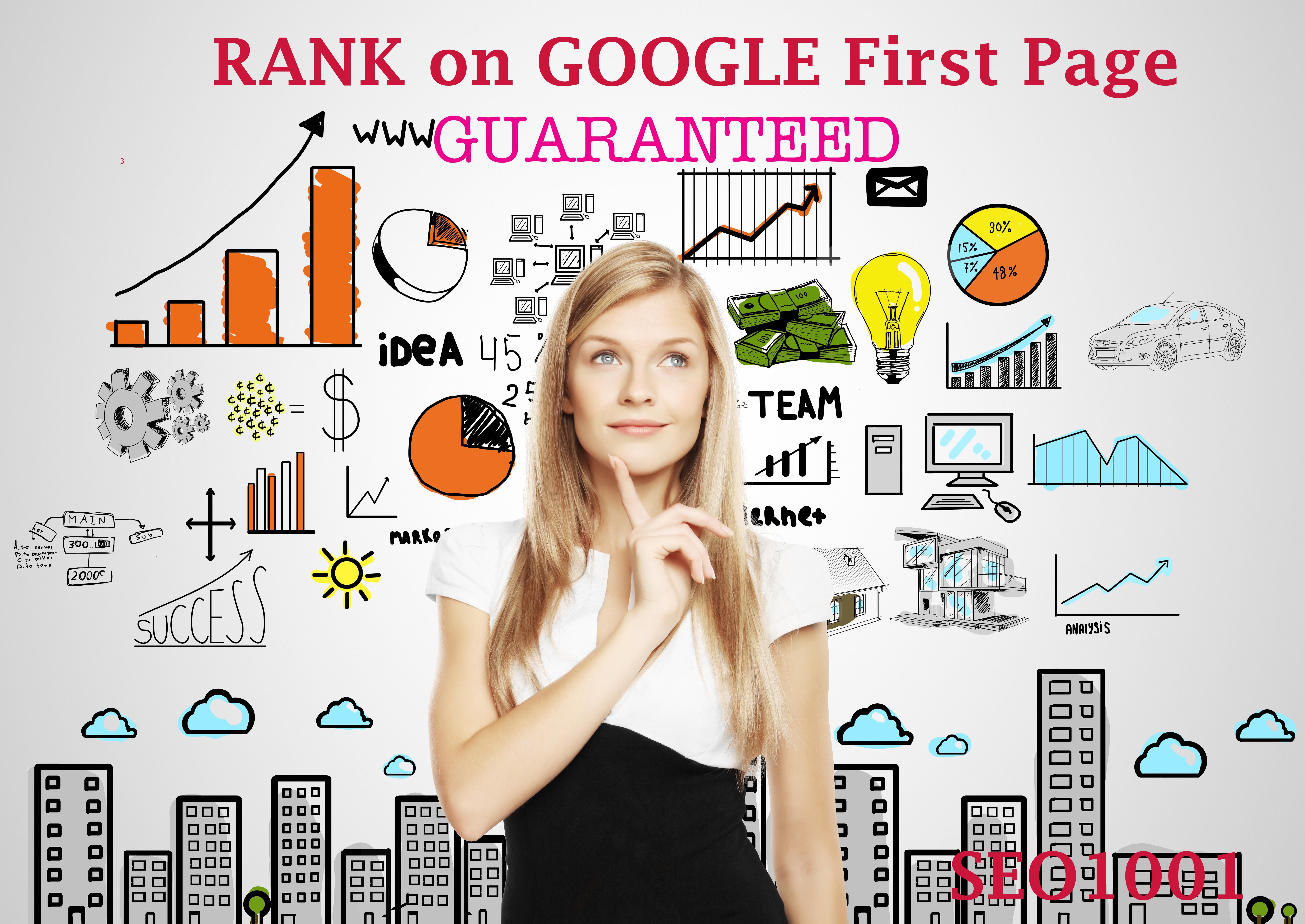 RANK on Google First Page - GUARANTEED