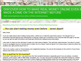 Make Money Online At The Comfort Of Your Home Sponsored Blog Review