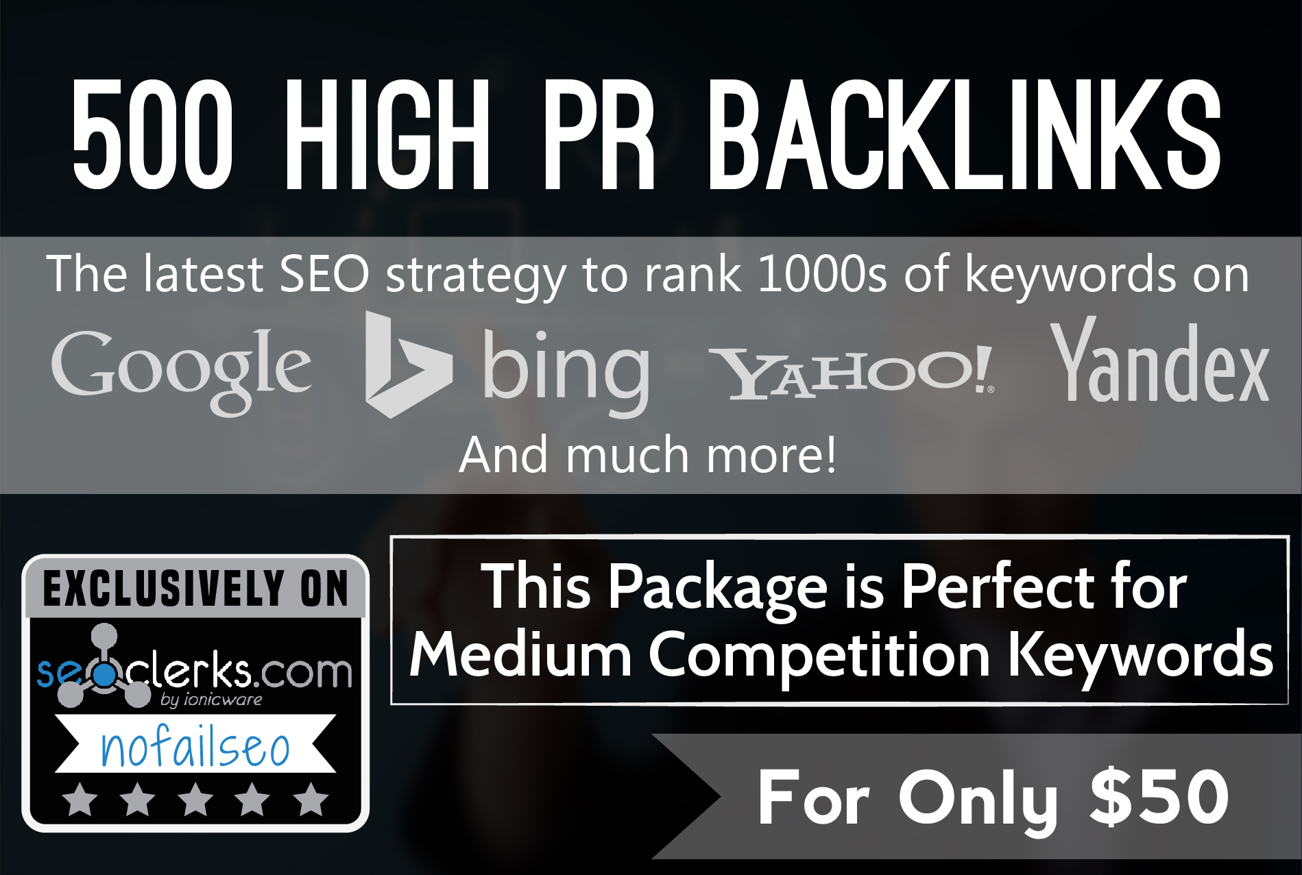 rank Page 1 FAST with 500 High Quality PR DoFollow Backlinks