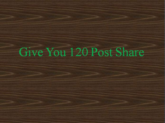 Give you 120 Share your photo,  Website and status