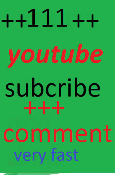 Provide you 101+ YouTube Video subscribe  and 22 youtube like and 22 youtube custom comment  lifetime gurrentted  12-24 Hours only