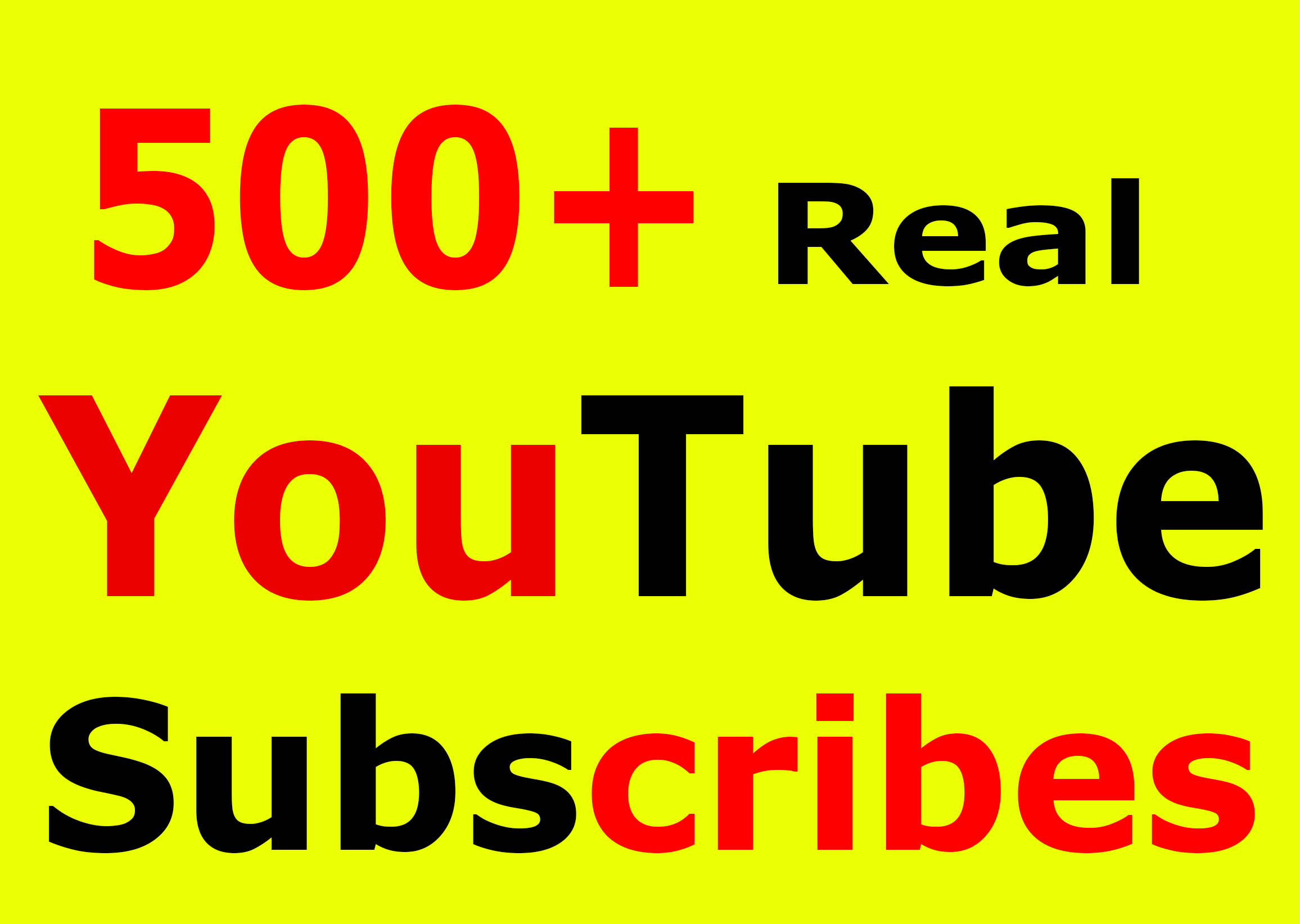 Fast 500+ You-Tube Subscribers lifetime refill guarantee