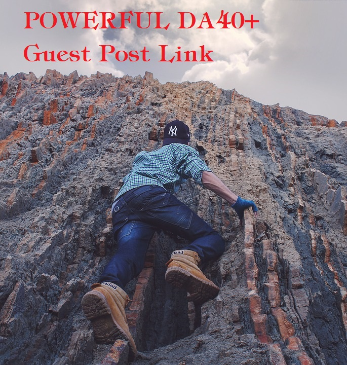 POWERFUL DA40+ Guest Post Link- High PA-DA