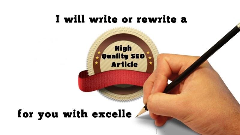 Writing SEO content or Descriptive text