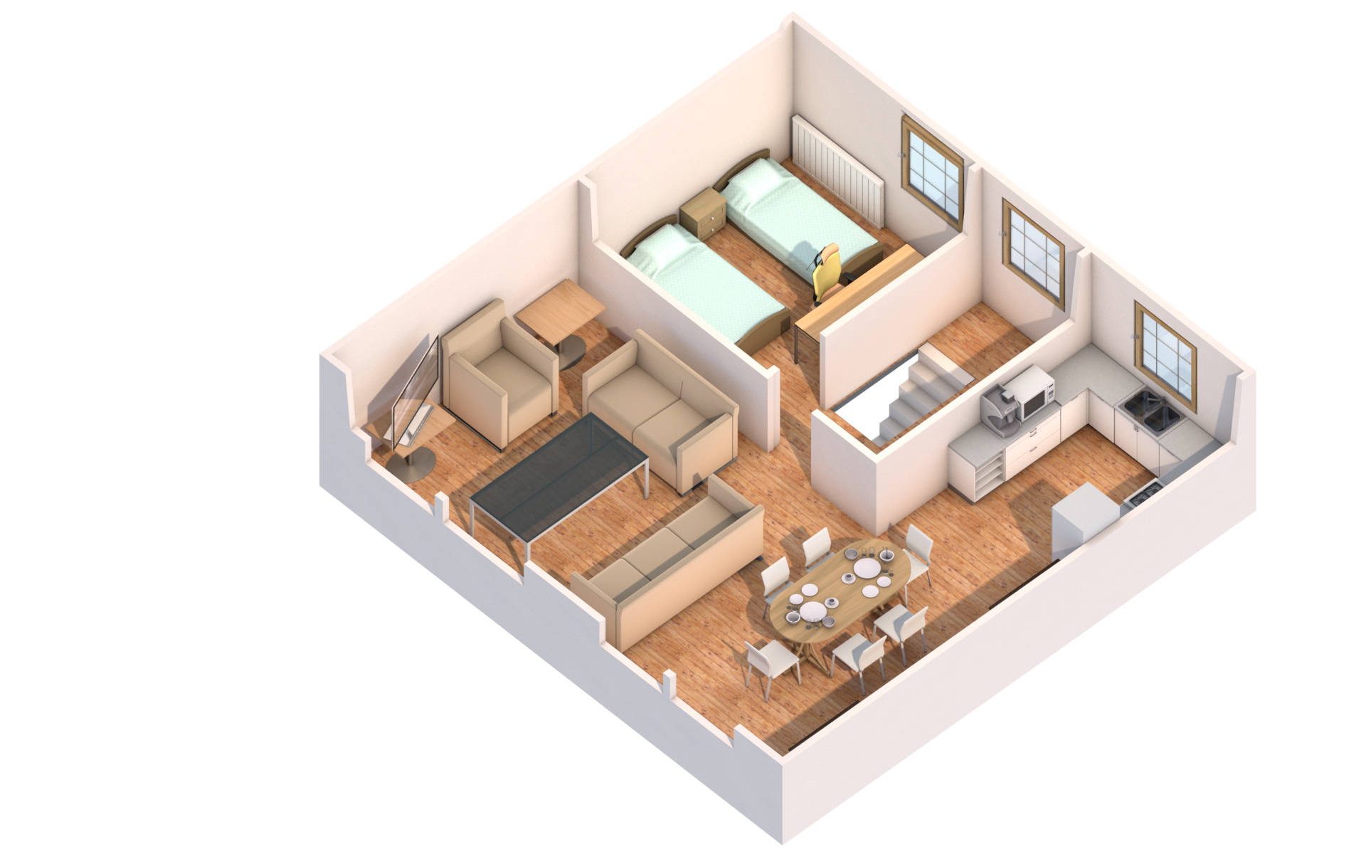 I will create 2d 3d floor plans interior and exterior for 3d building creator