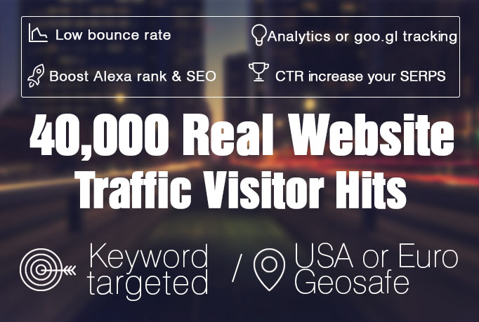 I will send 40 000 Real Website Traffic Visitor Hits