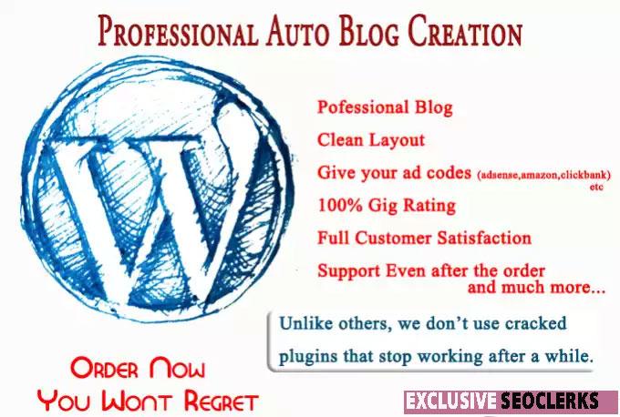 I Will Make Fully Functioning Wordpresss Autoblog