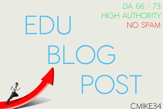 Post An Article On An. EDU Blog DA 67 - 76