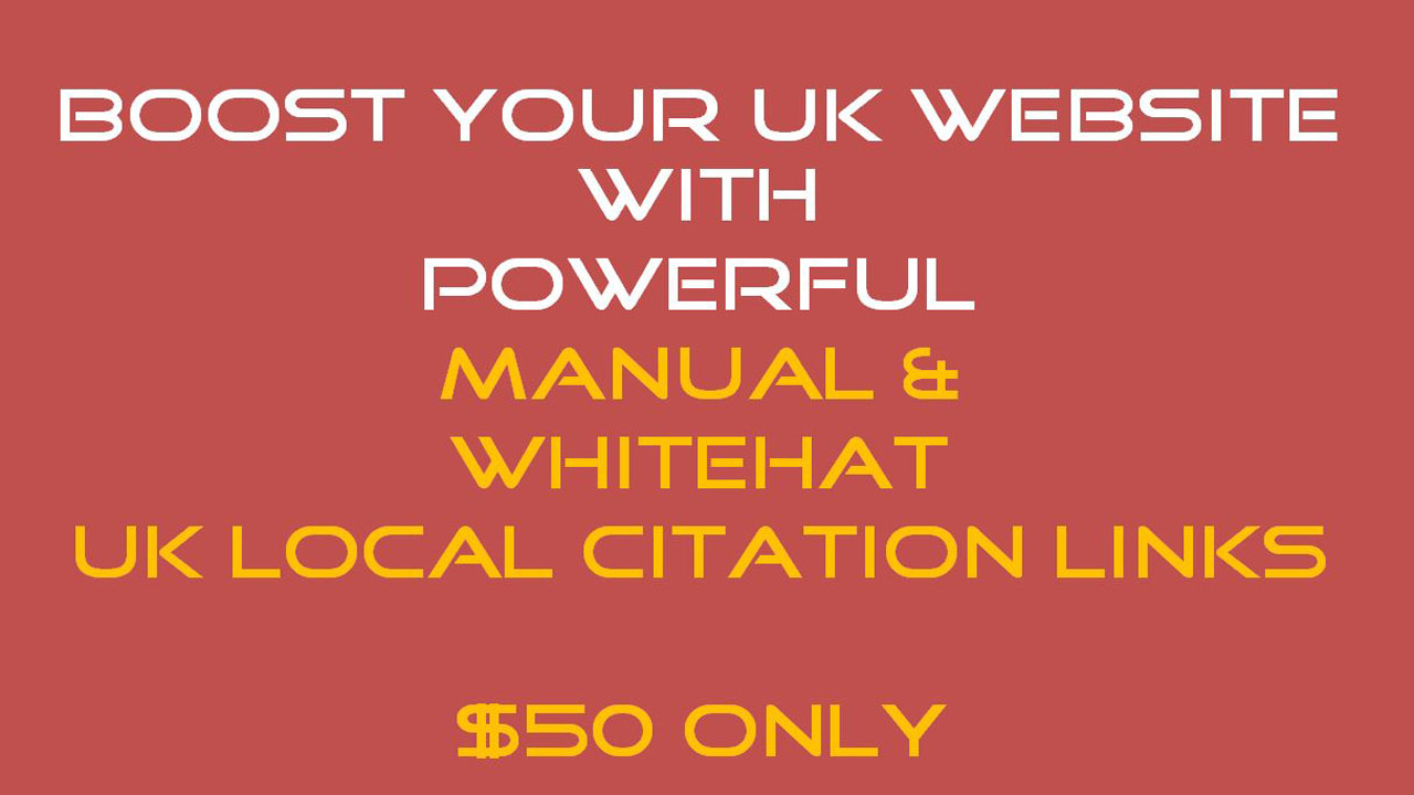 UK Local Citation Service - Special Black Friday Promo