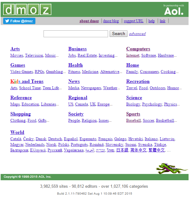 Dmoz submit your site