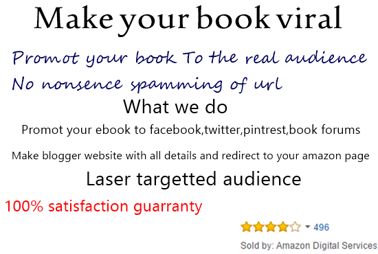 I will viral your amazon ebook