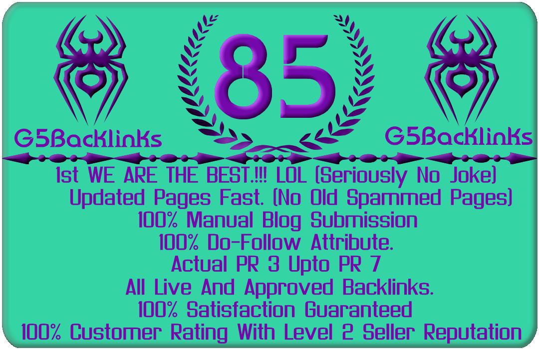 85 Do Follow Blog Comments Pr3 up to Pr7
