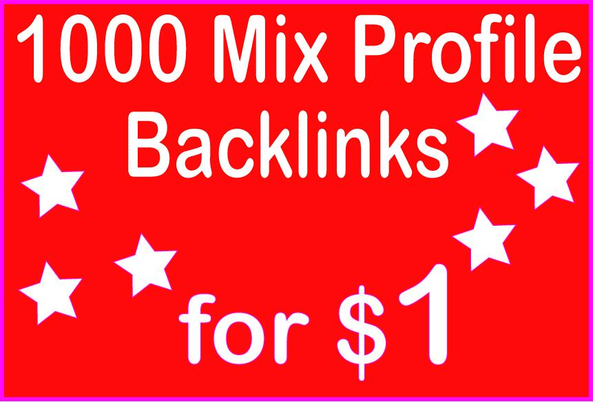 Do 1000 High PR Mix Profile backlinks