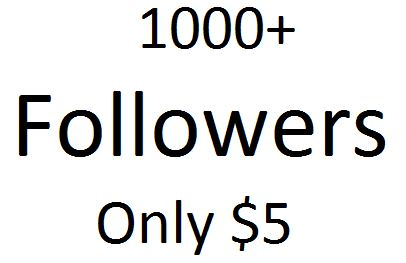 I will give you 1000+ Followers
