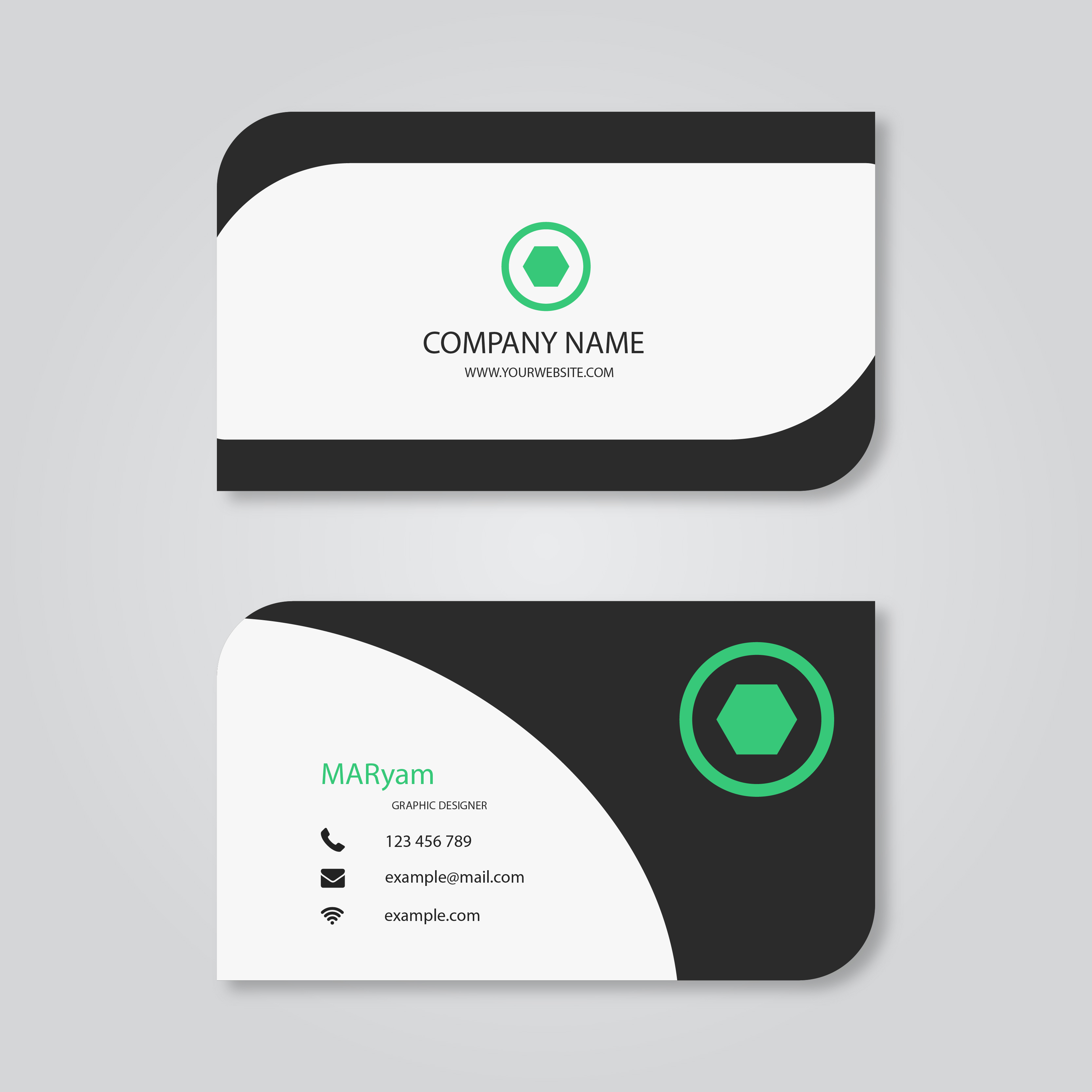 I will create SPECTACULAR modern business card for $5 - SEOClerks