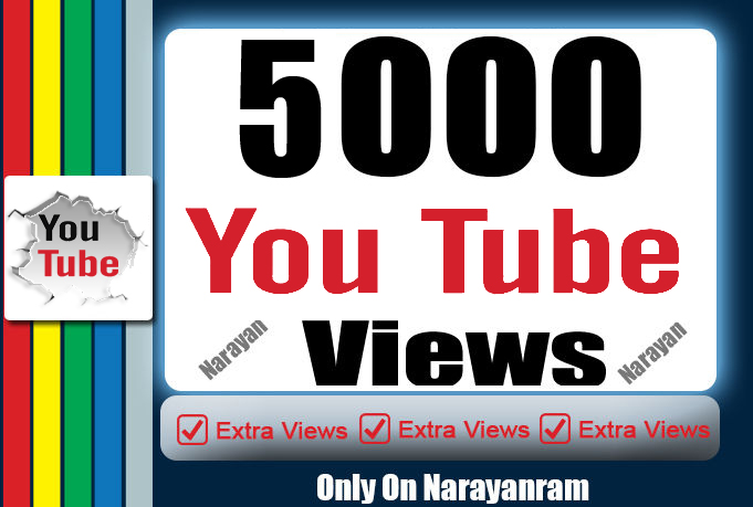 5000 High Quality Views Instant Start Fully safe