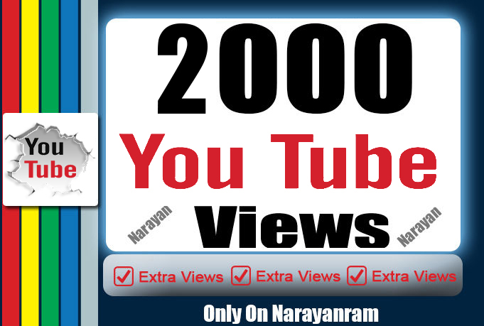 Get 2000 Super High Quality YouTube Vie'ws