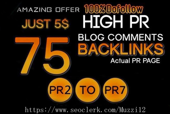 Buy 2 get 1 free I will Manually Do 75 Blog Comments on HIGH DA PA