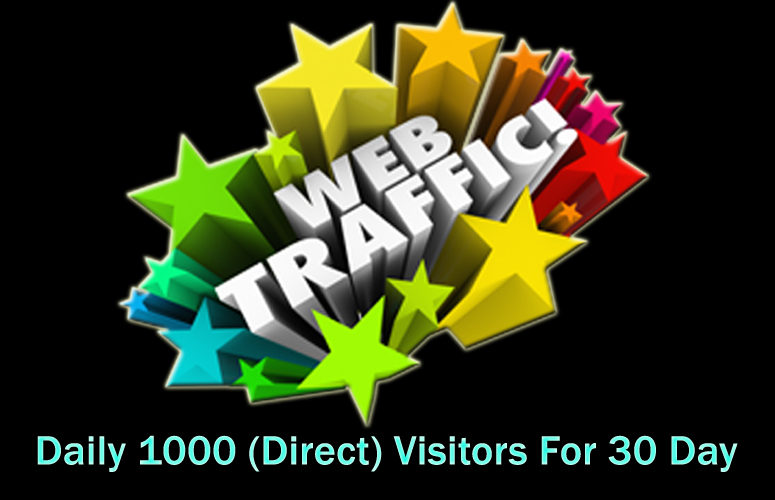 daily 1000 Direct Worldwide Traffic For 30 Days