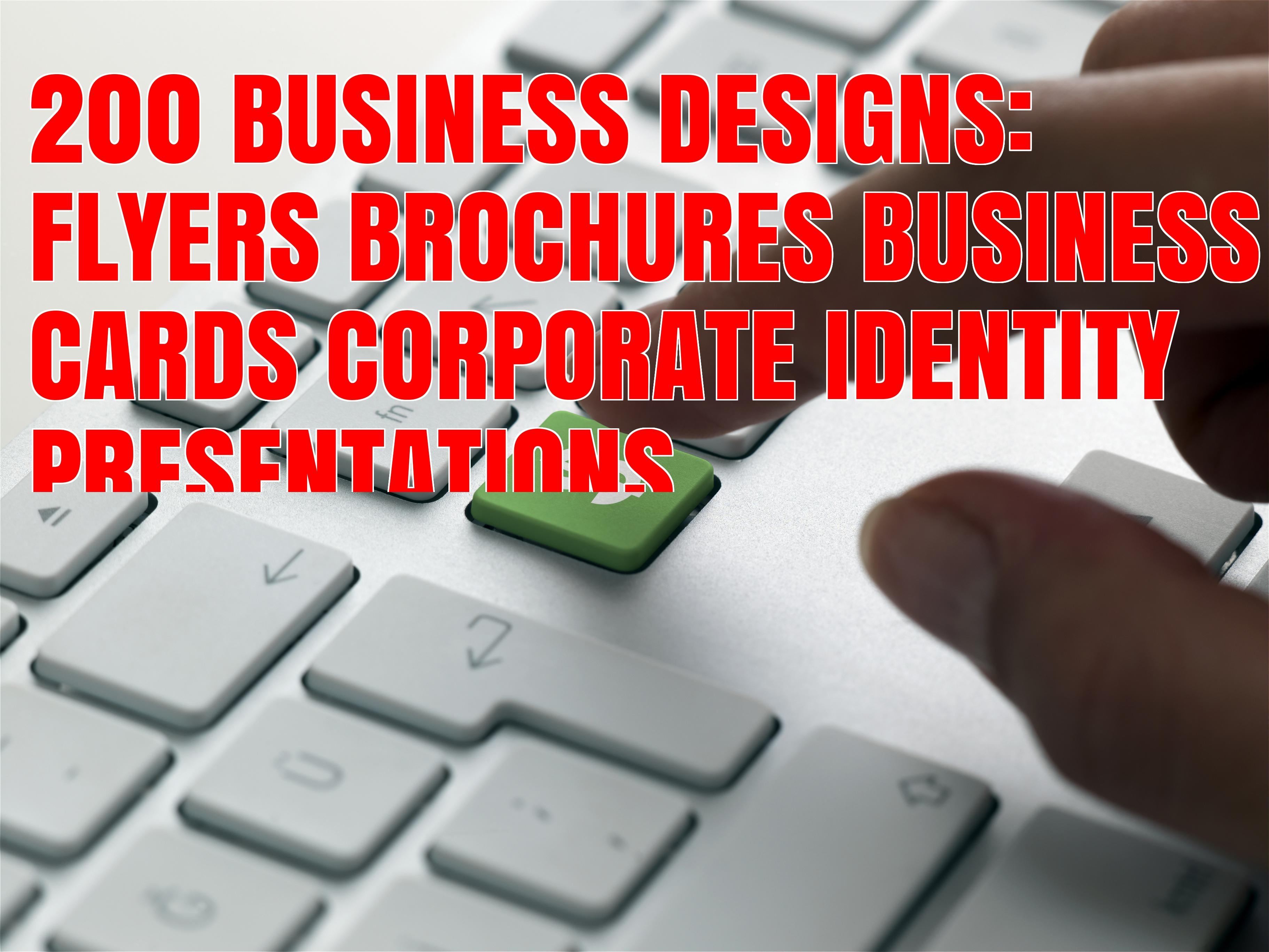 I will supply 200 PROFESSIONAL Business Design Resources